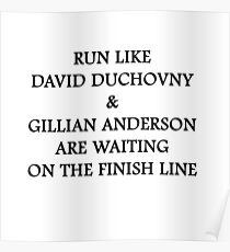 Run Like Gillian Anderson and David Duchovny Poster
