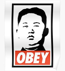 OBEY - KIM JONG Poster