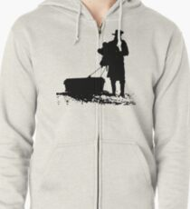 The D is silent Zipped Hoodie