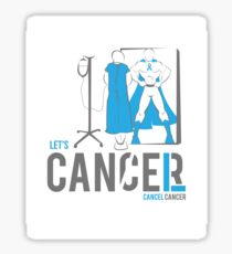 Let's Cancel Prostate Cancer Sticker