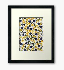Dots Dots Leaves Leaves Framed Print