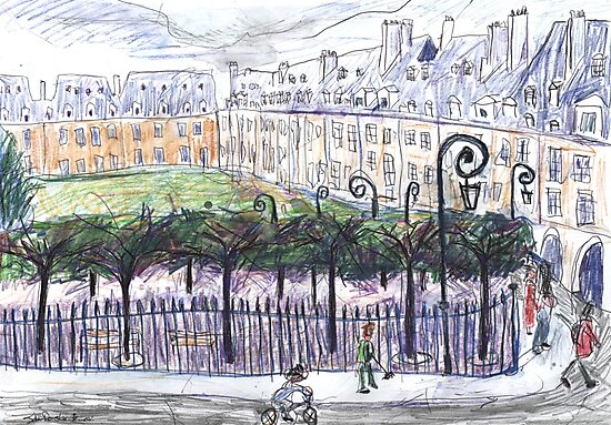 Place des Vosges from Number 23 by John Douglas