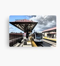 Light Rail to Monrovia Metal Print
