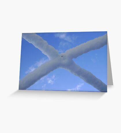 Saltire (snow and Scottish sky) Greeting Card