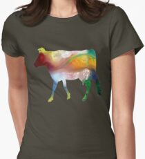 Guernsey cow Womens Fitted T-Shirt