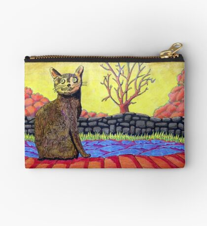 423 - YELLOW CAT - DAVE EDWARDS - COLOURED PENCILS - 2016 Studio Pouch