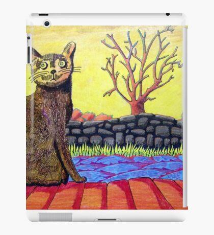 423 - YELLOW CAT - DAVE EDWARDS - COLOURED PENCILS - 2016 iPad Case/Skin