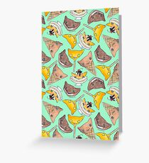 """Oro?"" Series Ice Cream Turquoise Greeting Card"