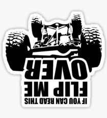 If you can read this flip me over Sticker