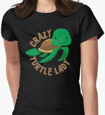Crazy Turtle Lady (circle) new cute turtle T-Shirt