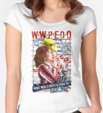 Absolutely Fabulous. AbFab. What Would Patsy and Edina Do, Darling? WWPEDD.  Women's Fitted Scoop T-Shirt