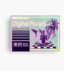Digital Paradise Canvas Print
