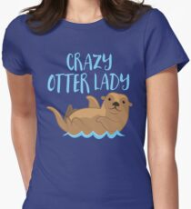 Crazy OTTER lady (new swimming) T-Shirt