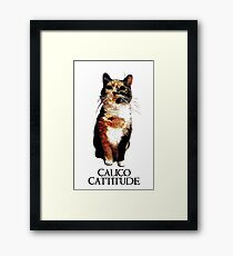 Calico Cattitude Framed Print