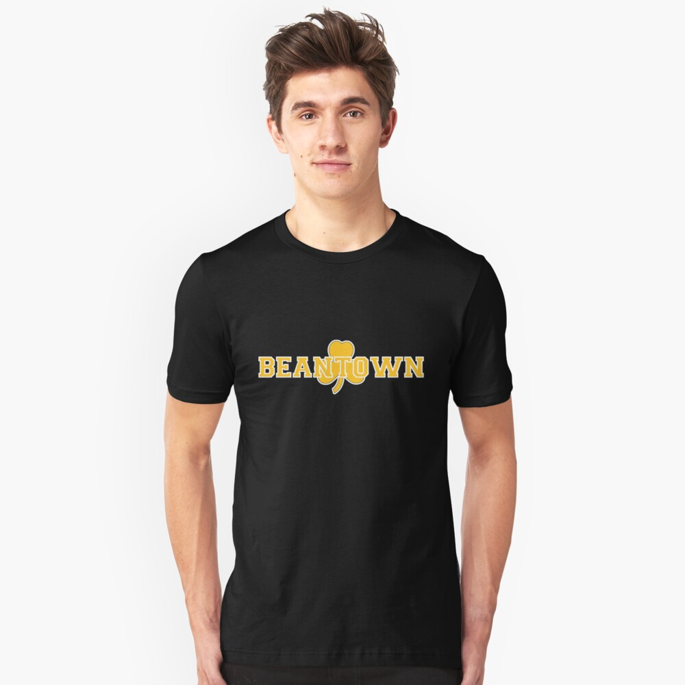 Beantown (gold on black) Unisex T-Shirt Front