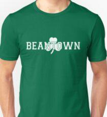 Beantown (white on green) Unisex T-Shirt