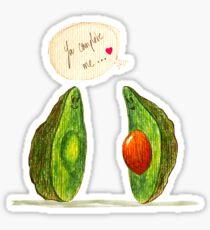 Avocado Lovestory Sticker