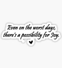 Caskett Joy Sticker