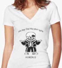Undertale Sans Humerus Shirt Women's Fitted V-Neck T-Shirt