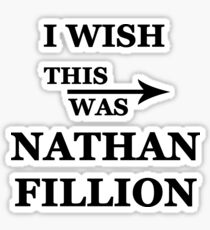 I wish this was Nathan Fillion Sticker