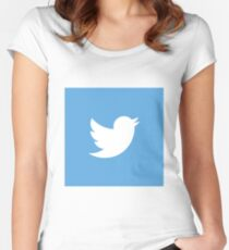 Twitter Women's Fitted Scoop T-Shirt