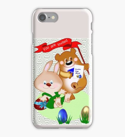 Invitation to Easter egg hunt (2475 views) iPhone Case/Skin