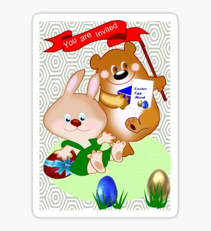 Invitation to Easter egg hunt (2475 views) Sticker