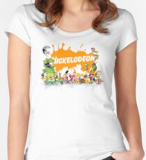 Ultimate Nickelodeon Nicktoons  Women's Fitted Scoop T-Shirt