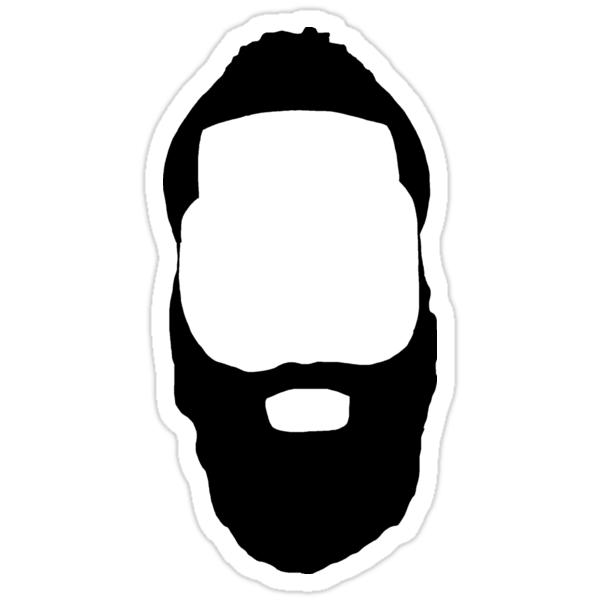 Quot James Harden Fear The Beard Quot Stickers By Mojj Redbubble