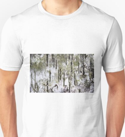 """Rebirth of a Forest"" Abstract Found On Bark T-Shirt"