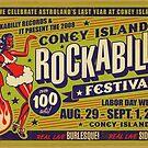 Coney Island Rockabilly Festival Poster by Jason Lonon