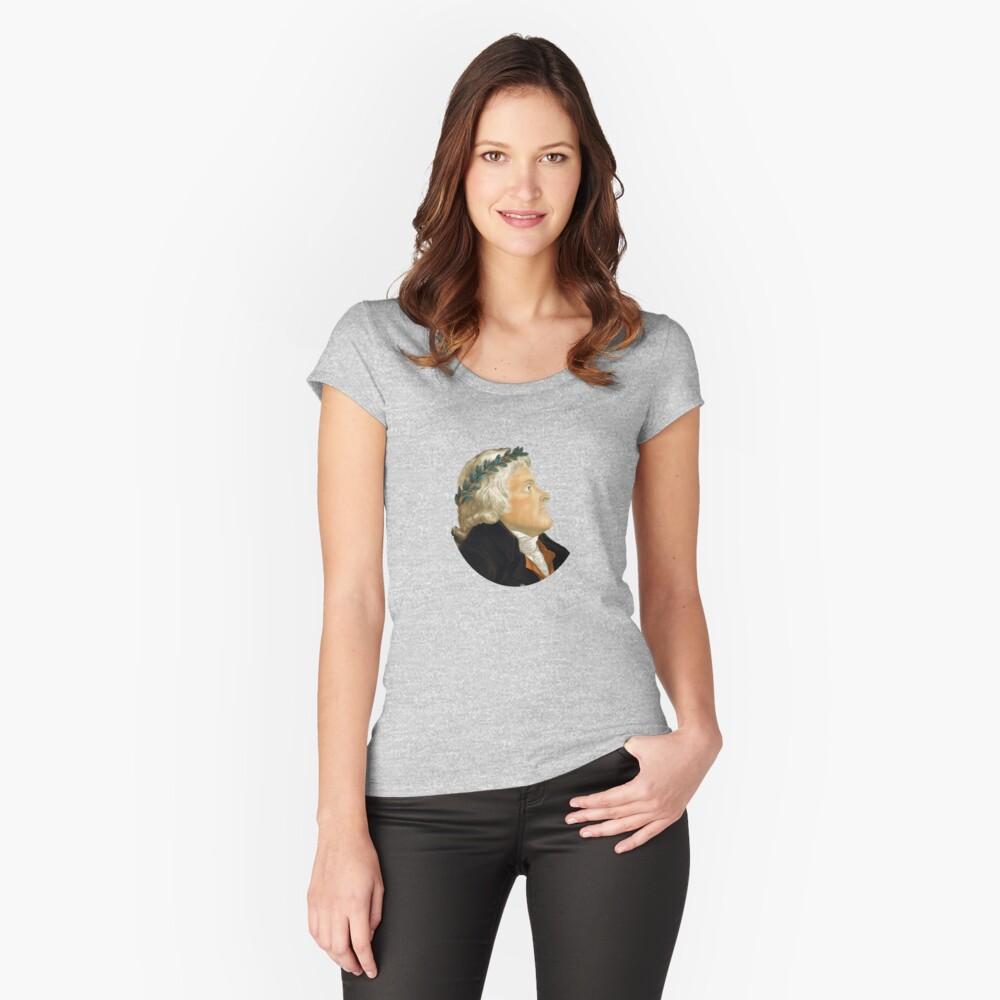 Präsident Thomas Jefferson Tailliertes Rundhals-Shirt