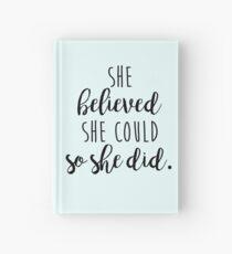 Cuaderno de tapa dura ella creyó que podía entonces lo hizo