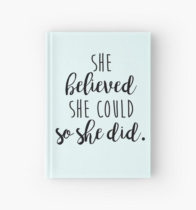 «ella creyó que podía entonces lo hizo» de fahimahsarebel