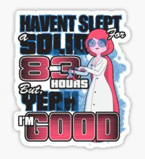 Sleepless in the Candy Kingdom Sticker