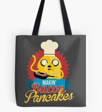 Jake The Dog Making Bacon Pancakes Tote Bag