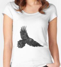 Raven in flight Women's Fitted Scoop T-Shirt