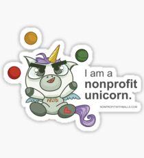 I AM A NONPROFIT UNICORN! Sticker