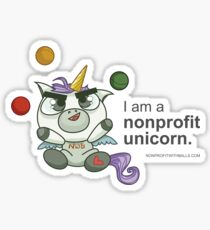 I AM A NONPROFIT UNICORN! Sticker