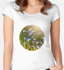 Forget me not   Women's Fitted Scoop T-Shirt