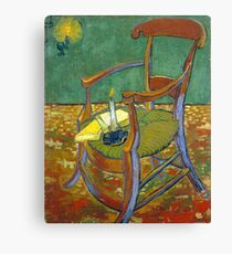 1888-Vincent van Gogh-Gauguin's chair-72,5x90,3 Canvas Print
