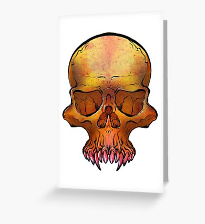 Vampire Skull Greeting Card