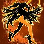 Super Smash Bros. Orange Bayonetta (Default) Silhouette by jewlecho