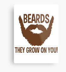 beards Metal Print