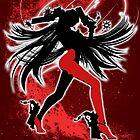 Super Smash Bros. Red/White Bayonetta (Default) Silhouette by jewlecho