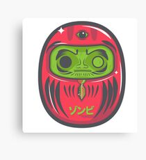 Daruma Doll Zombie Canvas Print
