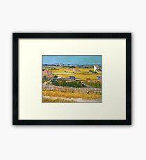 1888-Vincent van Gogh-The harvest-73x92 Framed Print