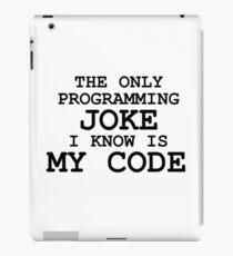 Programming jokes are cool, right? iPad Case/Skin