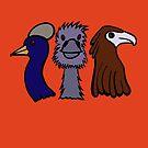 Bird Trio #3 by Anne van Alkemade