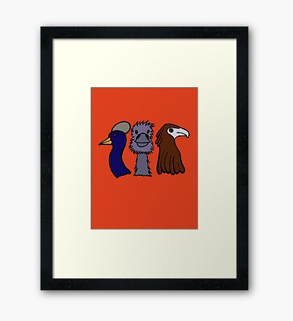 Bird Trio #3 Framed Print
